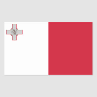 Malta/Maltese Flag Rectangular Sticker