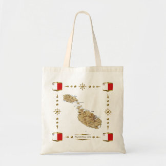 Malta Map + Flags Bag