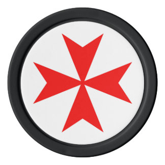malta templar knights red cross religion symbol poker chips