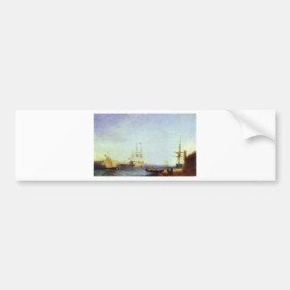 Malta Valetto Harbour by Ivan Aivazovsky Bumper Sticker
