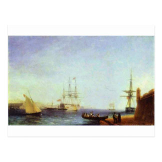Malta Valetto Harbour by Ivan Aivazovsky Postcard