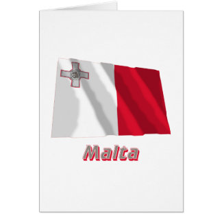 Malta Waving Flag with Name Card