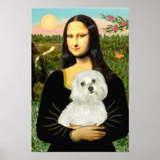 Maltese 11 - Mona Lisa Poster