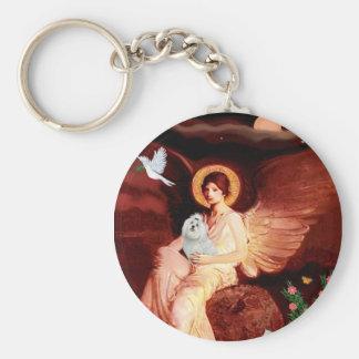 Maltese 7 - Seated Angel Key Ring
