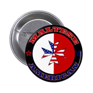 Maltese American Cross Ensign Button
