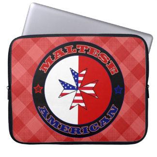 Maltese American Cross Ensign Laptop Case