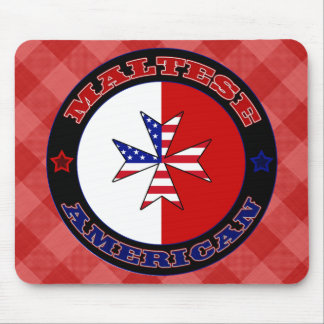 Maltese American Cross Ensign Mousemat