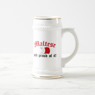 Maltese and Proud of It 18 Oz Beer Stein