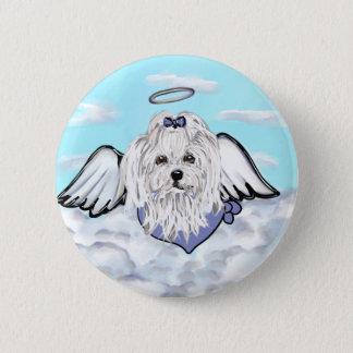 Maltese Angel 6 Cm Round Badge