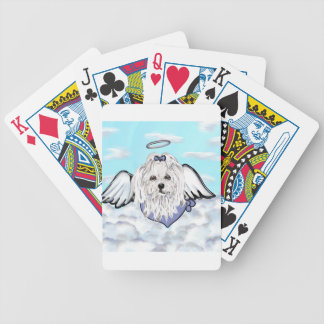 Maltese Angel Bicycle Playing Cards