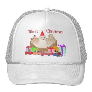 Maltese Christmas Mesh Hat