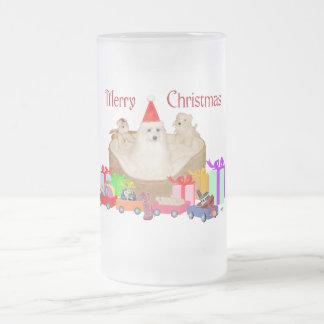 Maltese Christmas Coffee Mugs