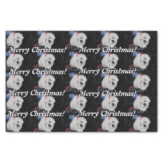 Maltese Christmas Tissue Paper