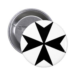 Maltese Cross 6 Cm Round Badge