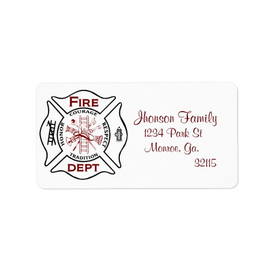 Maltese Cross  Address Labels