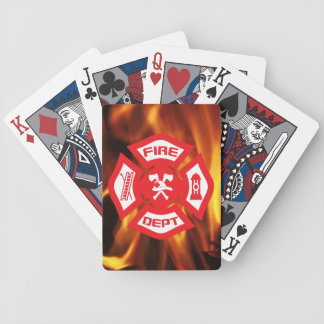 Maltese Cross and Flames - playing cards