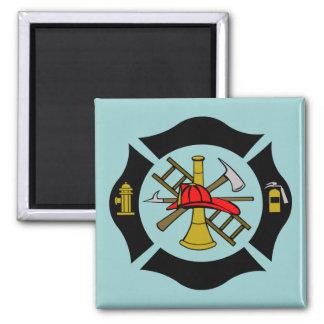 Maltese Cross - Black - Magnet