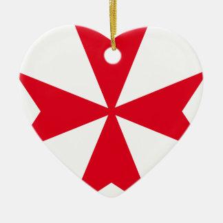 maltese cross ceramic heart decoration