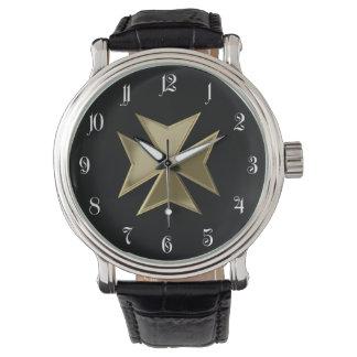Maltese cross wrist watches