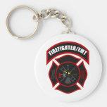 Maltese Cross - Firefighter/EMT Keychain
