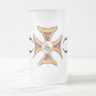 Maltese Cross on Fire Coffee Mug