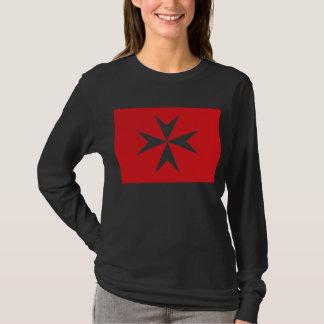 Maltese Cross, Romani Flag T-Shirt