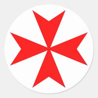 Maltese Cross Round Sticker