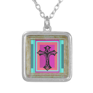 Maltese Cross Silver Plated Necklace