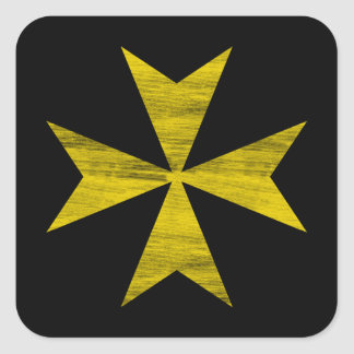 Maltese Cross Square Sticker