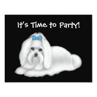 Maltese Dog Invitation