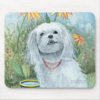 Maltese Dog Mousepad by Molly Harrison