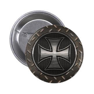 Maltese Gridiron 6 Cm Round Badge