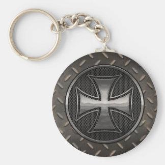 Maltese Gridiron Basic Round Button Key Ring