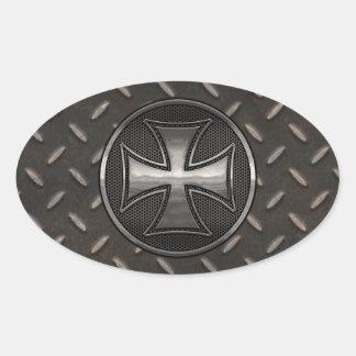Maltese Gridiron Oval Sticker