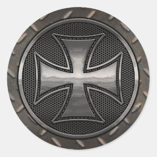 Maltese Gridiron Round Sticker