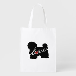 Maltese / Havanese Love Reusable Grocery Bag