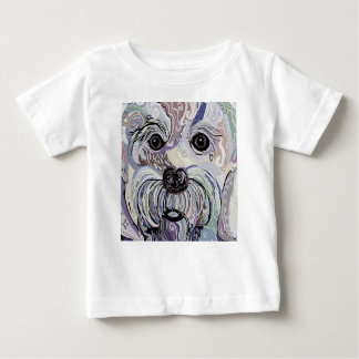 Maltese in Denim Colors Baby T-Shirt