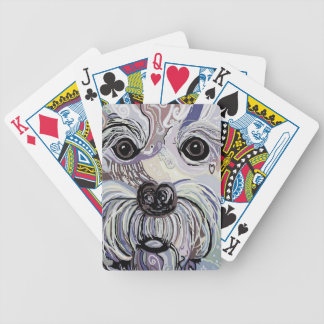 Maltese in Denim Colors Bicycle Playing Cards