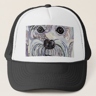 Maltese in Denim Colors Trucker Hat