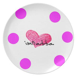 Maltese Language of Love Design Plate