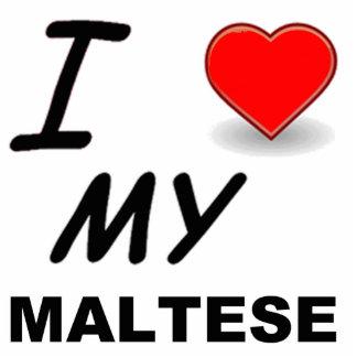 maltese love photo sculpture key ring