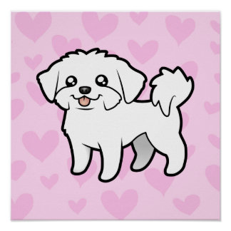 Maltese Love (puppy cut) Poster