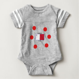 Maltese (Malti) Language And Malta Flag Design Baby Bodysuit