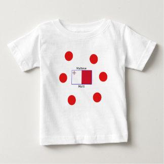 Maltese (Malti) Language And Malta Flag Design Baby T-Shirt