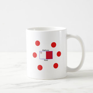 Maltese (Malti) Language And Malta Flag Design Coffee Mug