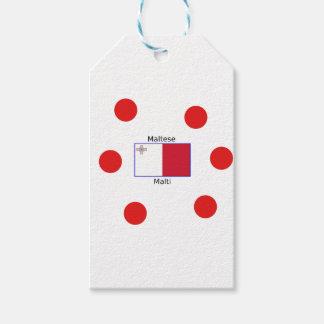 Maltese (Malti) Language And Malta Flag Design Gift Tags