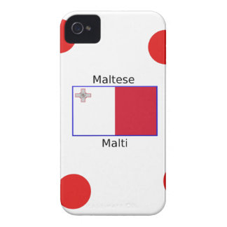 Maltese (Malti) Language And Malta Flag Design iPhone 4 Covers