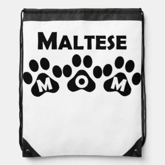 Maltese Mom Drawstring Bag