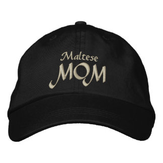 Maltese MOM Embroidered Hats