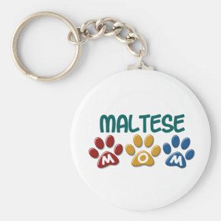 MALTESE Mom Paw Print 1 Key Chain